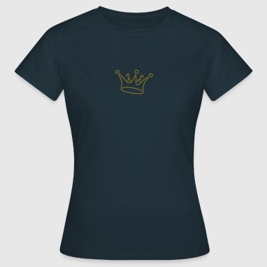Krone, Gold, crown, g1_2c - Frauen T-Shirt