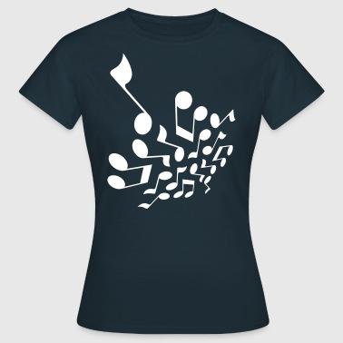 Crazy notes 3D - Vrouwen T-shirt