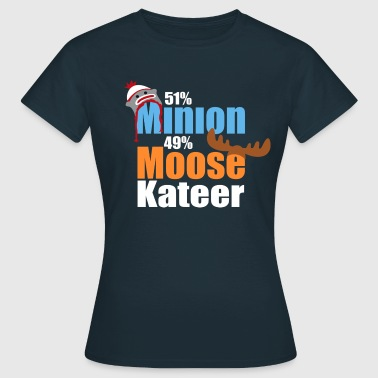 51% Minion 49% MooseKateer - Women's T-Shirt