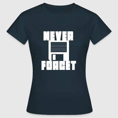 floppy disk never forget - Women's T-Shirt