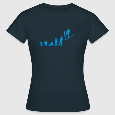 evolution nordische kombination skisprin - Frauen T-Shirt