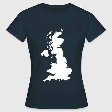 Karte UK, UK Map - Women's T-Shirt