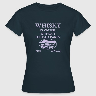 Whisky is water, Label - Vrouwen T-shirt