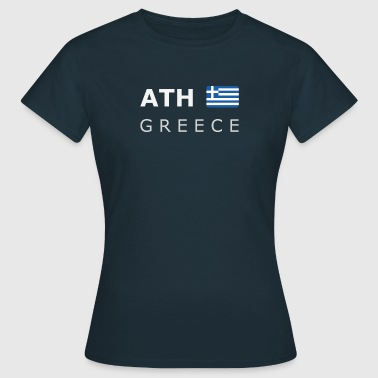 ATH GREECE white-lettered 400 dpi - Vrouwen T-shirt