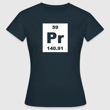 Praseodymium (Pr) (element 59) - Women's T-Shirt