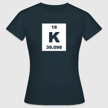 Potassium (K) (element 19) - Women's T-Shirt