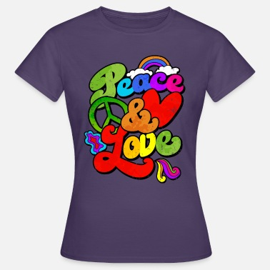 Hippie 60s Peace and Love Hippie 60s 70s gift - Women's T-Shirt