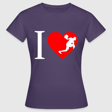I love basketball, basketball player - Women's T-Shirt