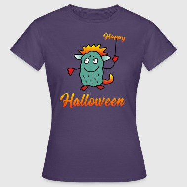 Happy Halloween - Drage Monster - Dame-T-shirt