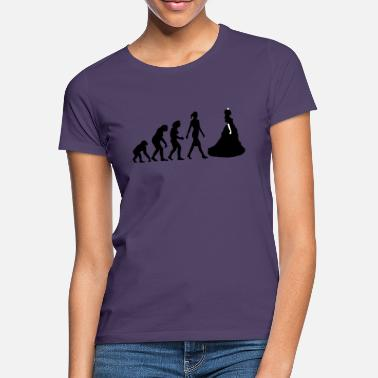 Königin Evolution of woman princess - Frauen T-Shirt