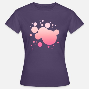 Salpicador De Colores Simple Pink Color Spatter Color Splash Design - Camiseta mujer
