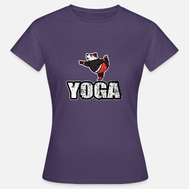 New Age Dancing Yoga bjørn Vintage Retro New Age - T-skjorte for kvinner
