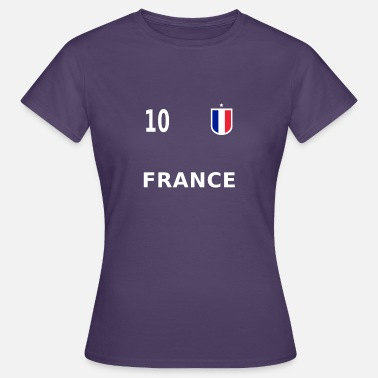 Footballers Jersey Number France football jersey number 10 - Women's T-Shirt