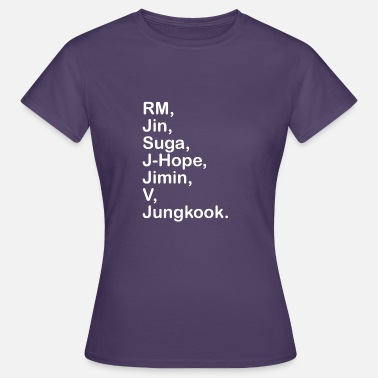 Koreansk Pop Koreanska Pop BTS namngåva - T-shirt dam