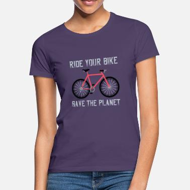Bike-bote Gift for Biker - Ride your Bike save the planet - Women's T-Shirt