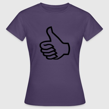 Samtykke Thumbs up sort - Dame-T-shirt