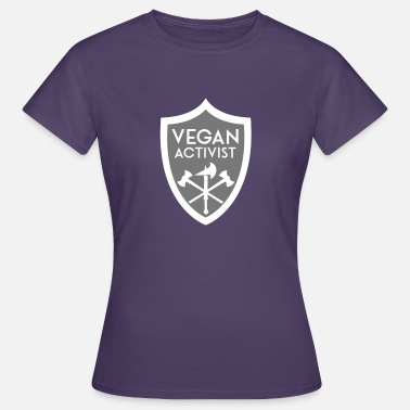Activist VEGAN ACTIVIST SHIELD - Frauen T-Shirt