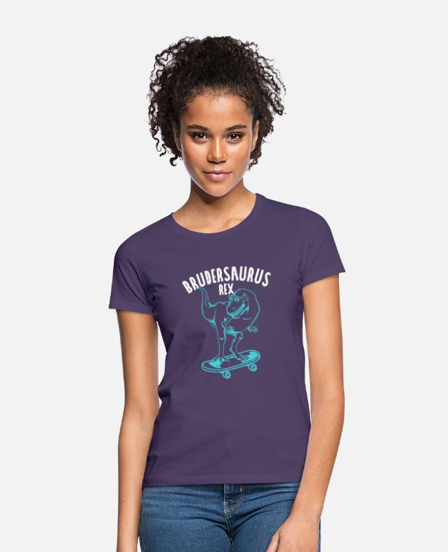 Pregnancy T-Shirts - Brothersaurus Rex Gift idea for the best brother - Women's T-Shirt dark purple