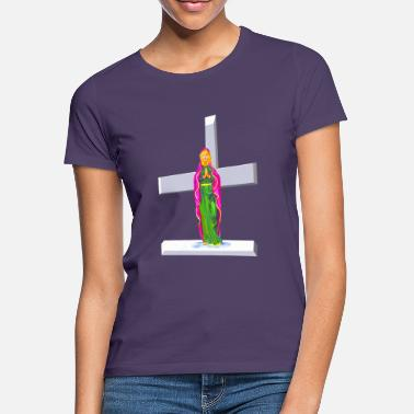 Altar Madonna Maria Mary with Altar Cross - Women's T-Shirt