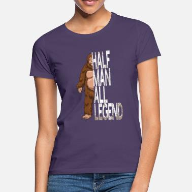 Cryptozoölogie Half Man All Legend Bigfoot Sasquatch - Vrouwen T-shirt
