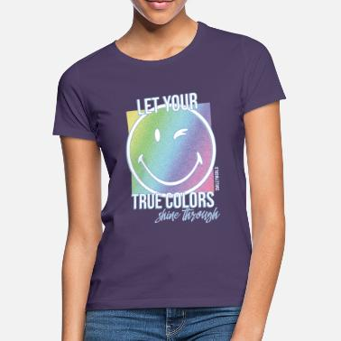 Regenbogen SmileyWorld Let Your True Colors Shine Through - Frauen T-Shirt