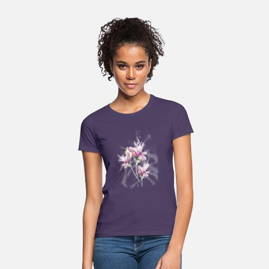 Nature Collection T-shirts - Watercolor Lilies Tattoo - T-shirt dame dyblilla