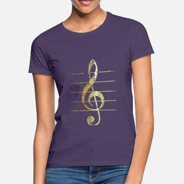 Treble Clef G-Clef - Treble Clef (Ancient Gold) - Women's T-Shirt