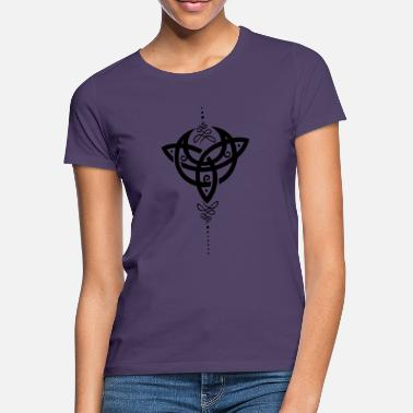 Trinity Celtic moon, crescent moon with Trinity symbol. - Women's T-Shirt