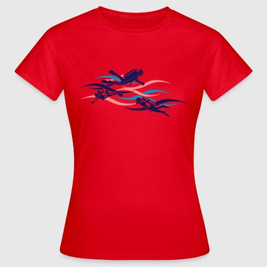 taucher - diver - Frauen T-Shirt