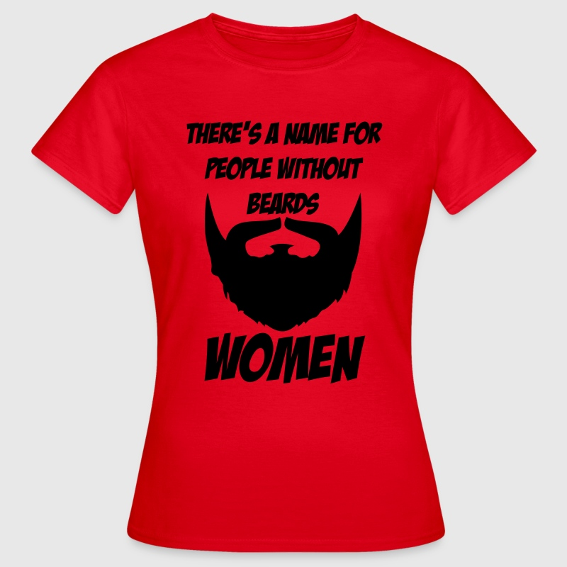 There's a name for people without beards - women - Vrouwen T-shirt