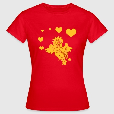 Cupid with Hearts Bow and Arrow - Women's T-Shirt