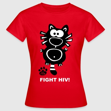 Fight HIV AIDS Catpaw Katze Kater Gay Fun - Maglietta da donna