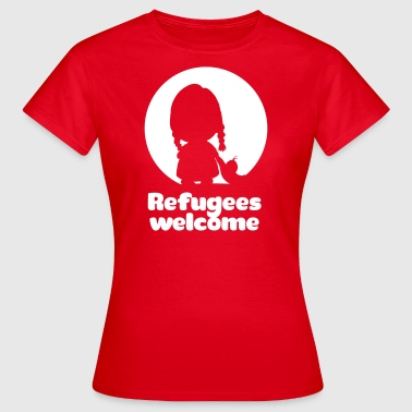 Refugees welcome - Dame-T-shirt