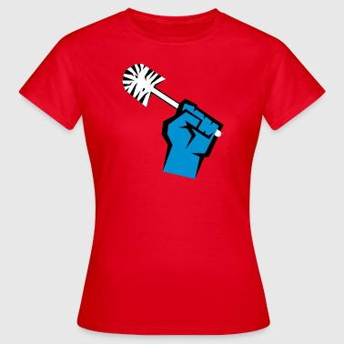 Riot with toilet brush T-Shirts - Women's T-Shirt