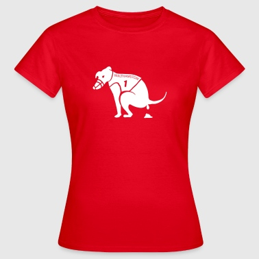 Shitting Race Dog - Women's T-Shirt
