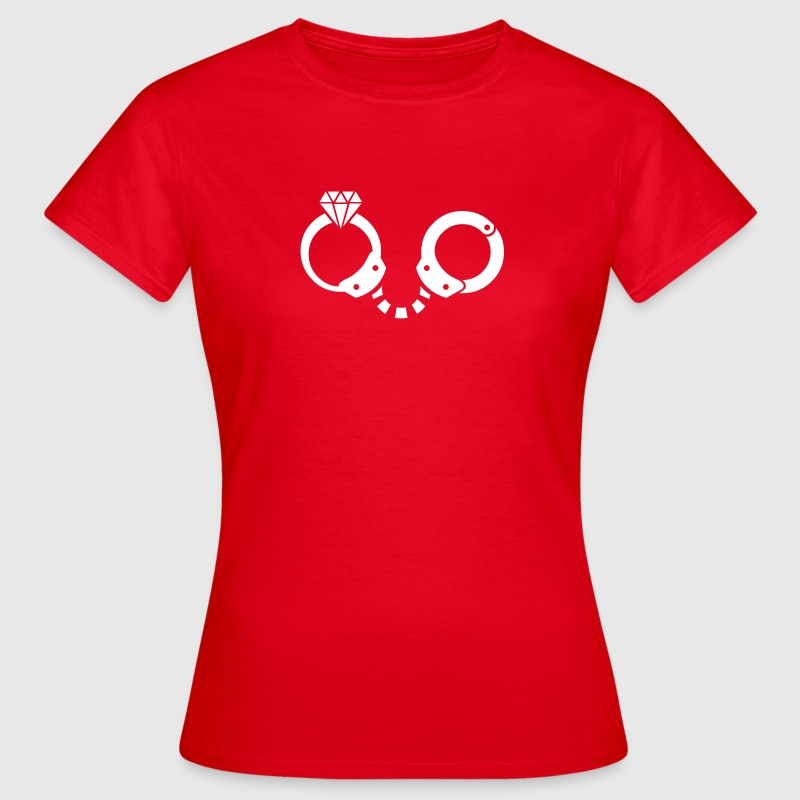 Bachelor Party / Icon Ring & Handcuff - Women's T-Shirt