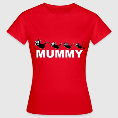 Mummy Katzen Mutter Mama Shirt - Vrouwen T-shirt