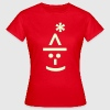 Santa Text Emoticon - Women's T-Shirt