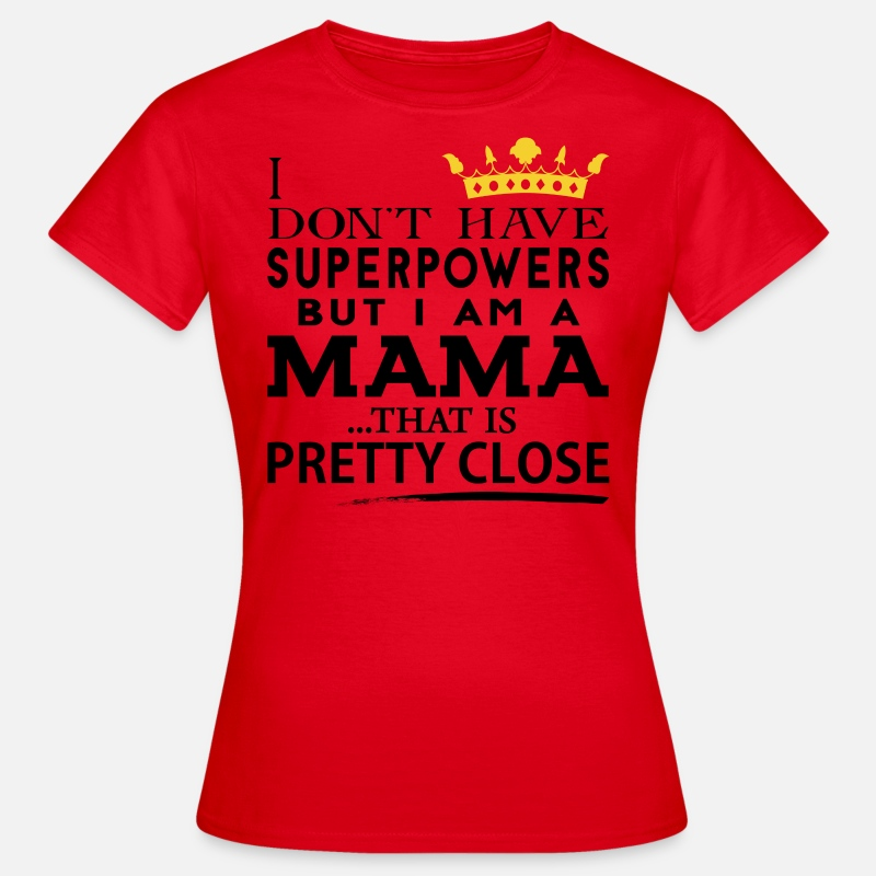 Mummy T-Shirts - SUPER MAMA! - Women's T-Shirt red