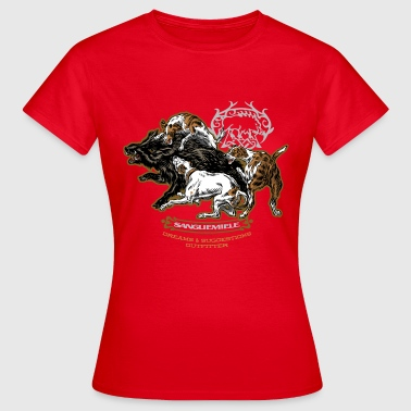 wild_boar_and_hounds - T-shirt Femme