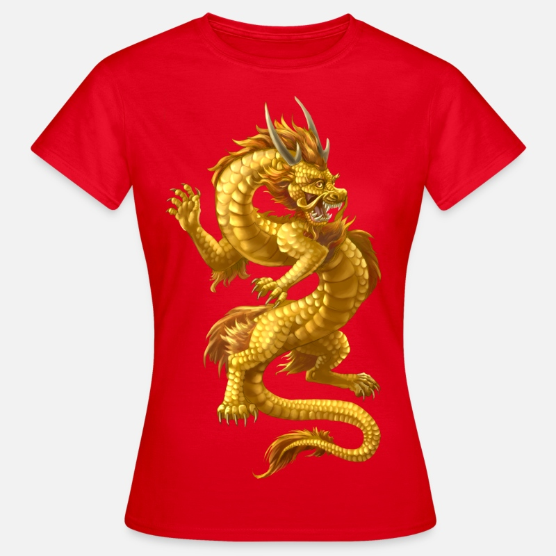 Chinese T-Shirts - chinesischer Drache - Women's T-Shirt red