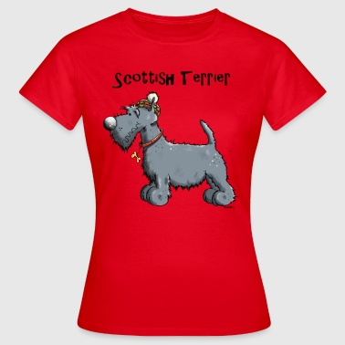 Scottish Terrier Felice Scottish Terrier - Maglietta da donna