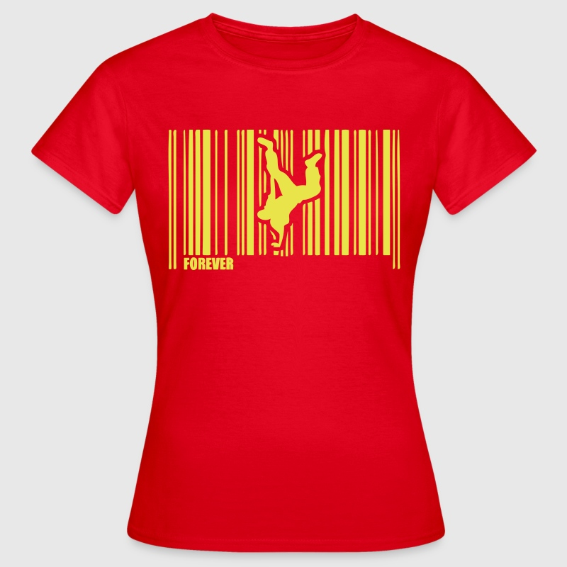 code barre break dance hip hop danseur1 - Camiseta mujer