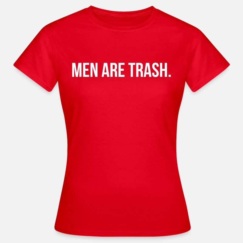 T-shirts - Men are trash - T-shirt Femme rouge