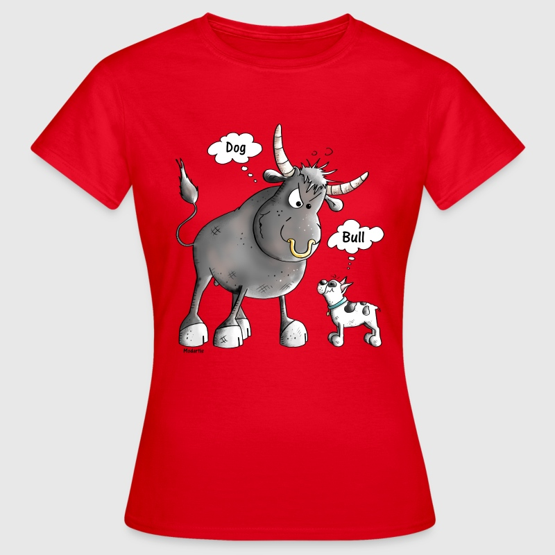 Funny French Bulldog Cartoon - Dog - Women's T-Shirt