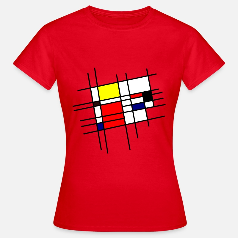 Graphique T-Shirts - Inspiration Mondrian - Vrouwen T-shirt rood