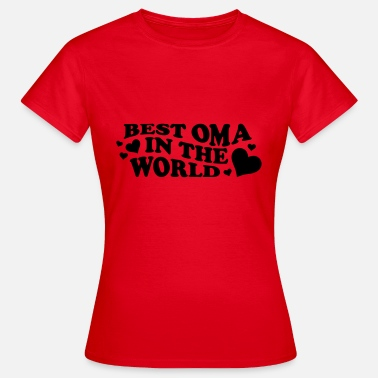 Cute Grandma Sayings Best Grandma In The World Saying With Heart - Women's T-Shirt