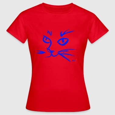 Muzzle CAT BLUE - Women's T-Shirt