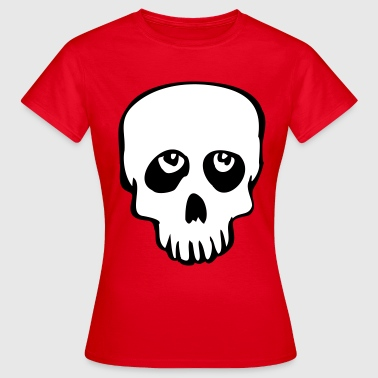 sad looking skull - Frauen T-Shirt