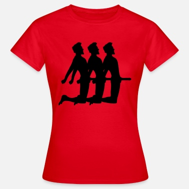 Penis Silhouette group sex 3 threesome sandwich penis big man maen - Women's T-Shirt